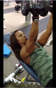 chest flye with frontal delts